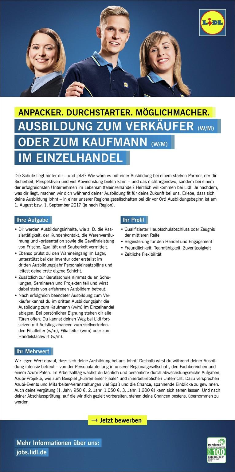 Ausbildung zum Verkäufer (m/w), Leierndorfer Str. 34