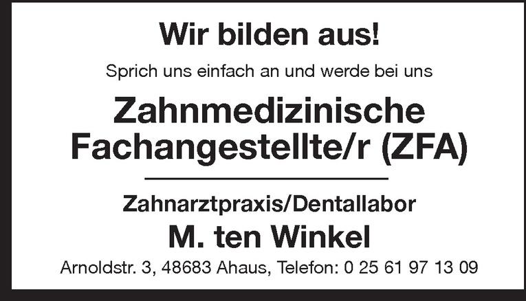 Ausbildung: Zahnmedizinische/r Fachangestellte/r (ZFA)