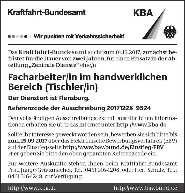 Facharbeiter/in im handwerklichen Bereich (Tischler/in)