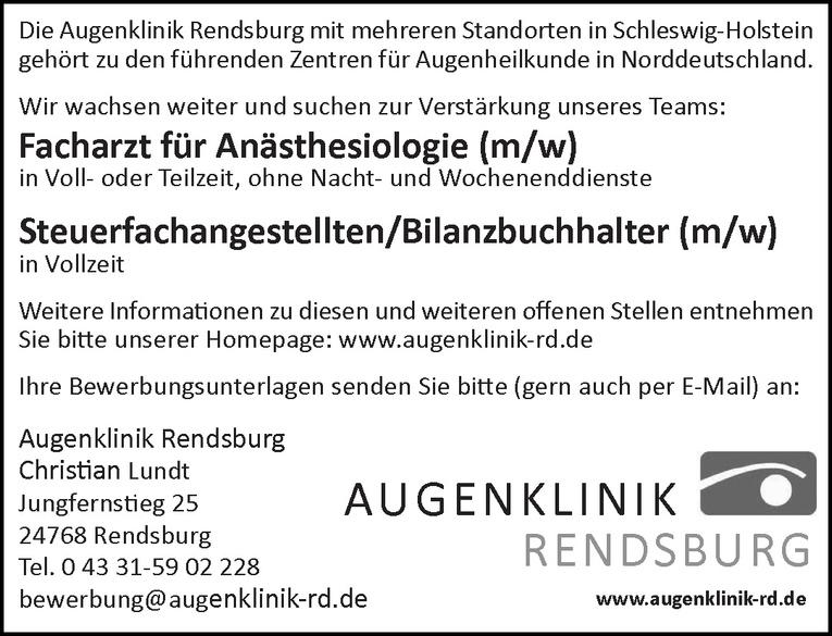 Facharzt für Anästhesiologie (m/w)