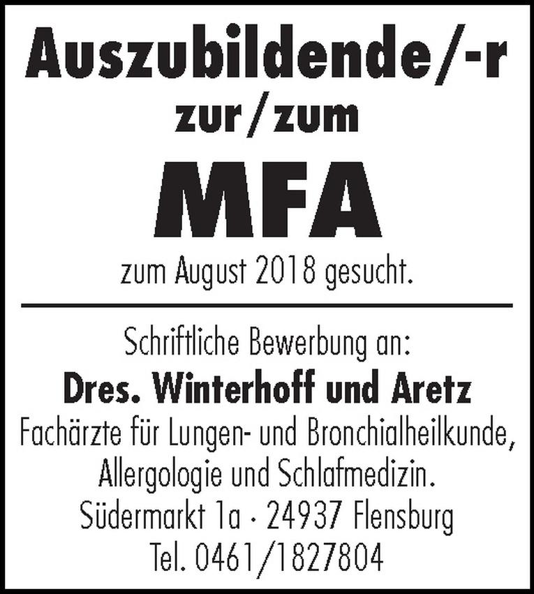 Auszubildende/-r zur/zum MFA