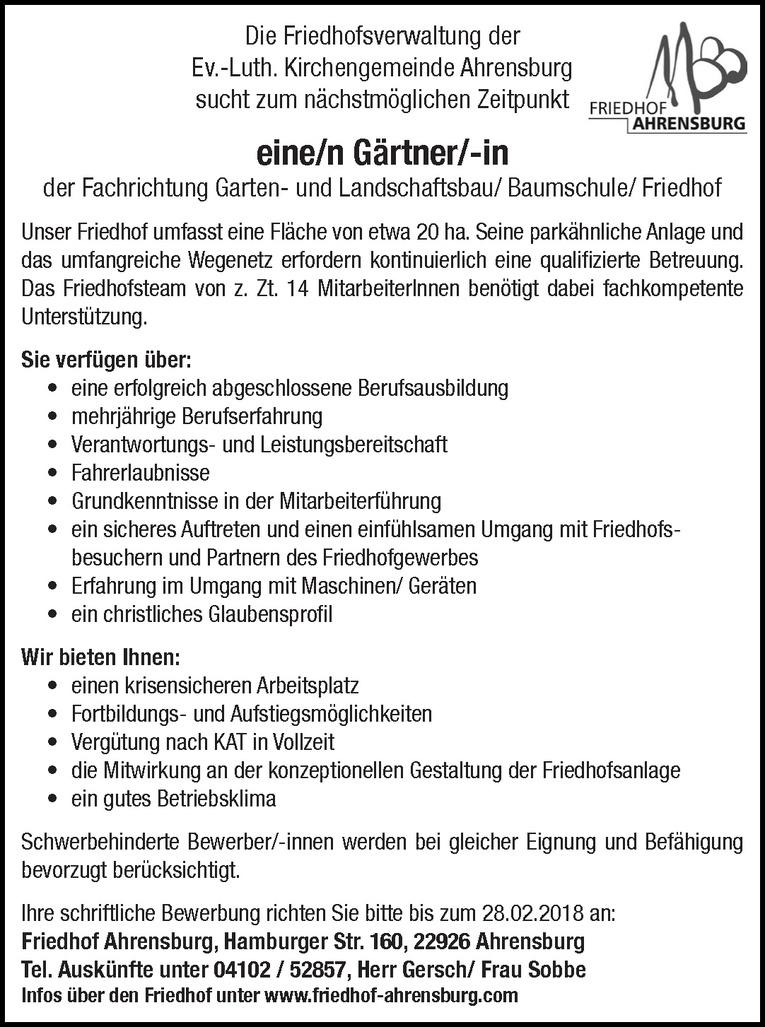 Gärtner/-in