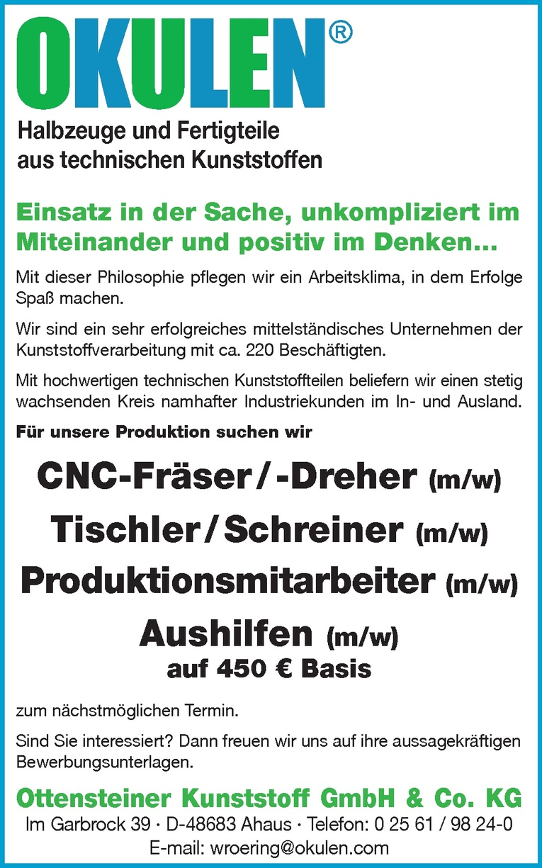 Tischler/Schreiner (m/w)