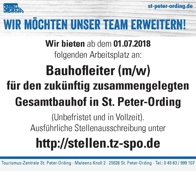 Bauhofleiter (m/w)