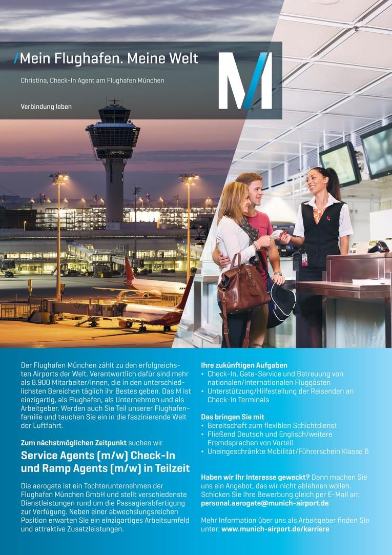 Check-in Agents (m/w) mit Berufserfahrung im Passenger Handling