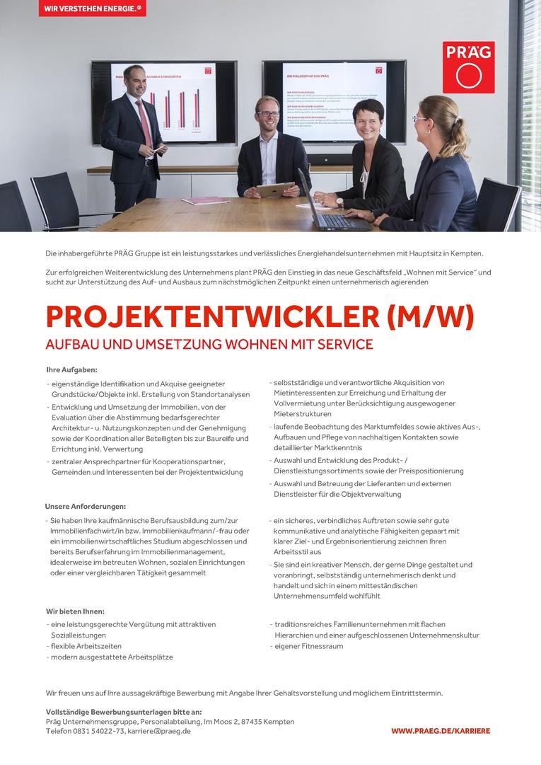 Projektentwickler (m/w) Aufbau und Umsetzung Wohnen mit Service
