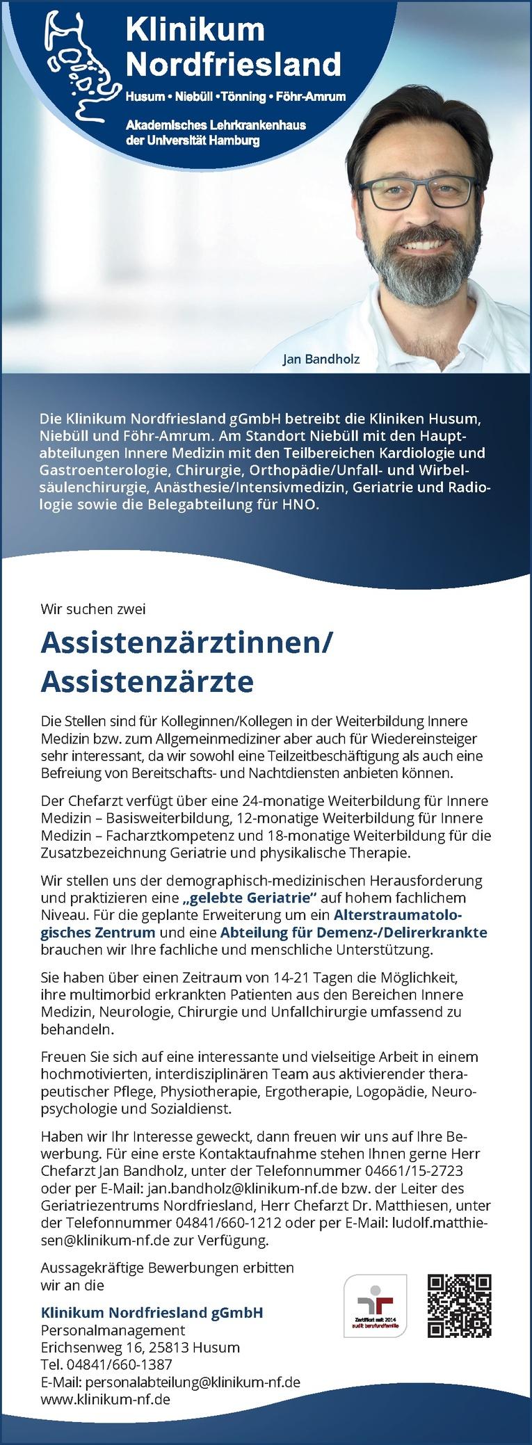 Assistenzärtinnen/Assistenzärzte Geriatrie