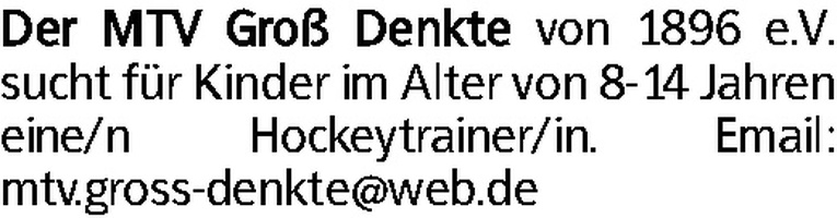 Hockeytrainer/in