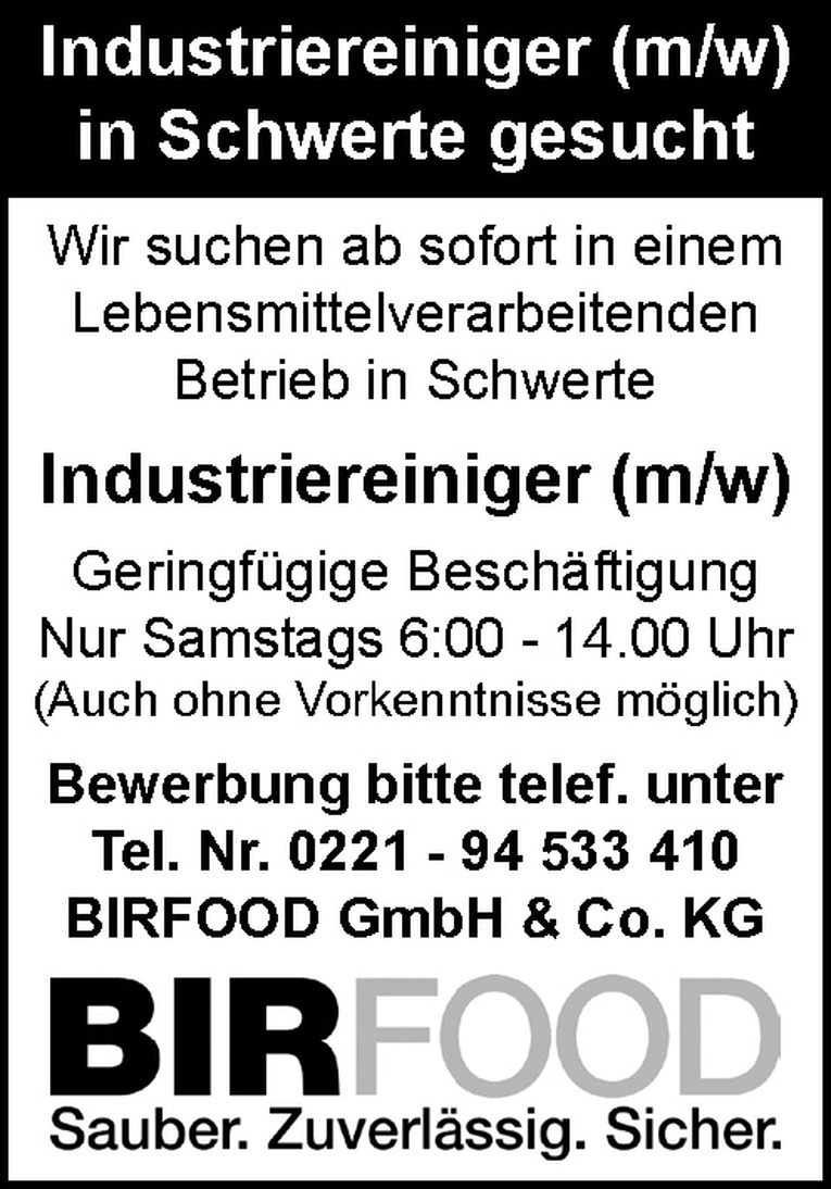 Industriereiniger (m/w)