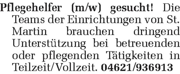 Pflegehelfer (m/w)
