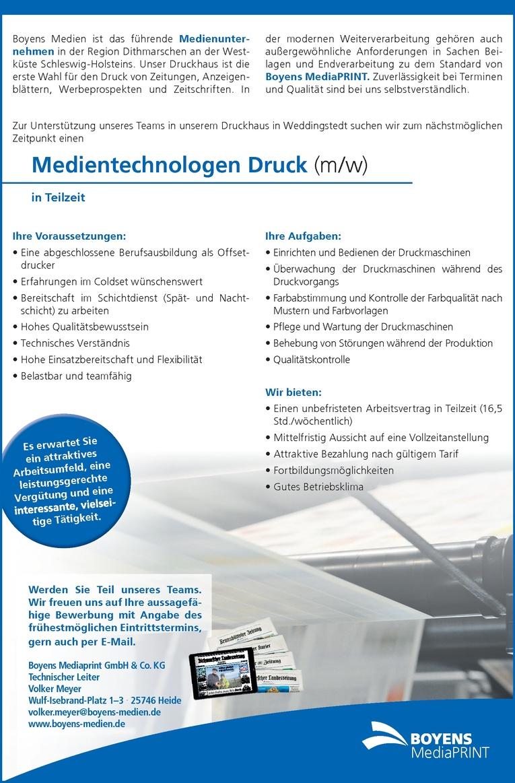 Medientechnologen Druck (m/w)