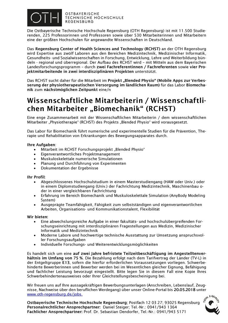 Atemberaubend Biomechanik Lebenslauf Galerie - Bilder für das ...