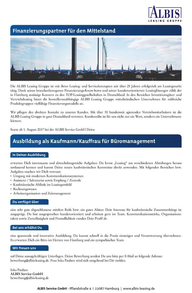 Ausbildung zum Kaufmann / Kauffrau für Büromanagement