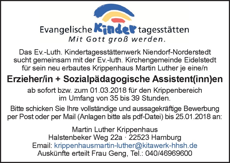 Erzieher/in + Sozialpädagogische Assistent(inn)en