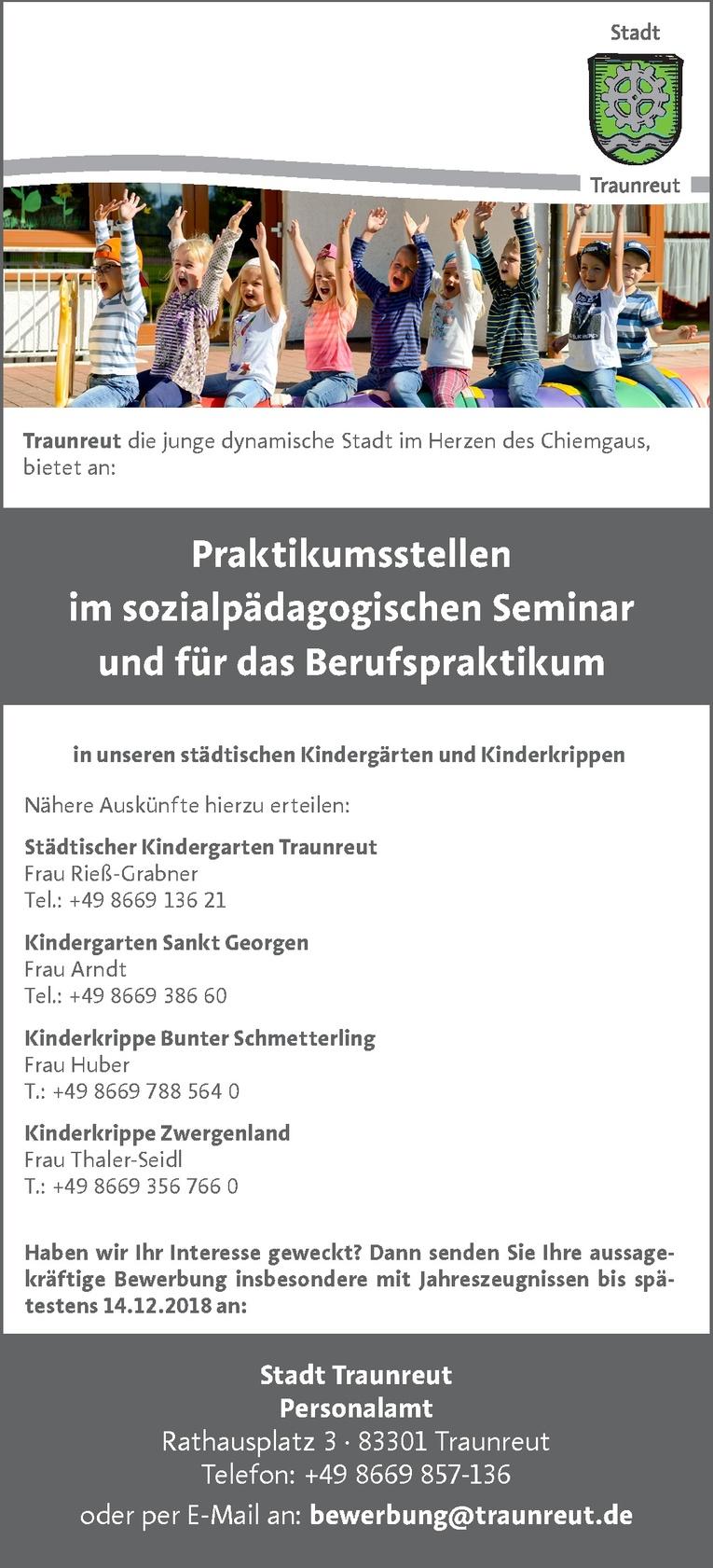 Job Praktikumsstellen Im Sozialpädagogischen Seminar Und Für Das