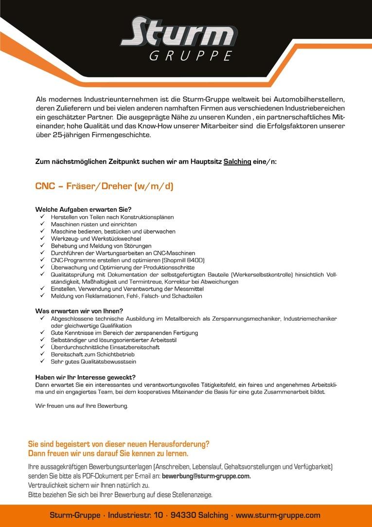 CNC - Fräser/Dreher (w/m/d)