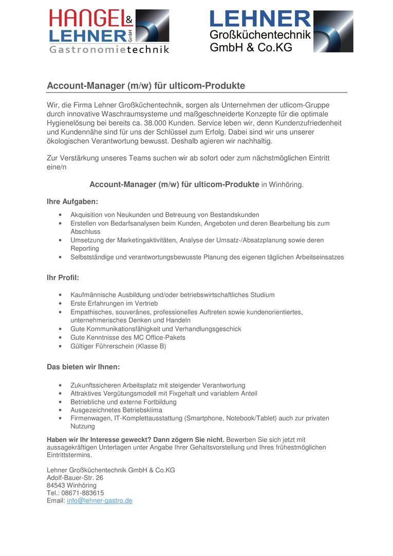 Account-Manager für ulticom-Produkte