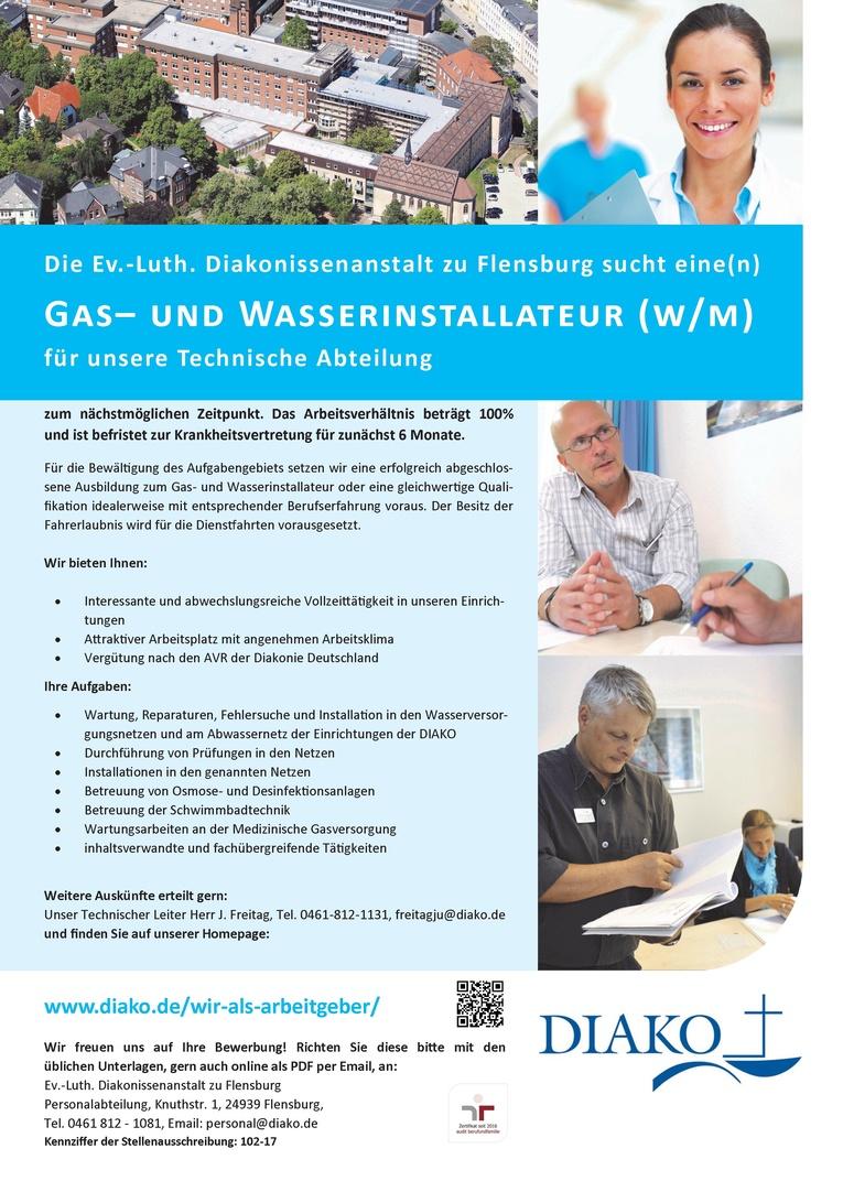 Gas- und Wasserinstallateur (w/m)