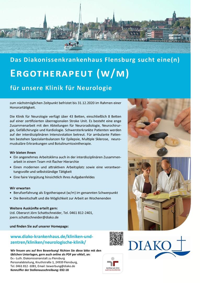 Ergotherapeut (w/m) im Rahmen einer Honorartätigkeit
