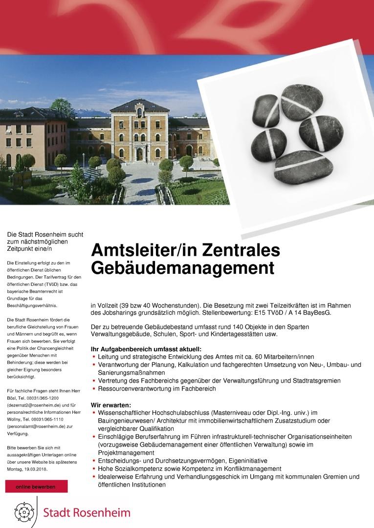 Amtsleiter/in Zentrales Gebäudemanagement