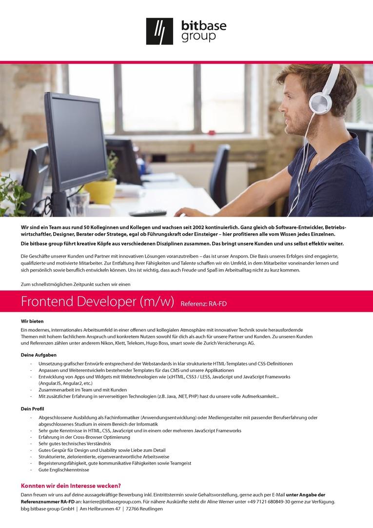 Frontend Developer (m/w)