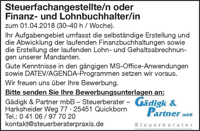 Steuerfachangestellte/n / Finanz- und Lohnbuchhalter/in