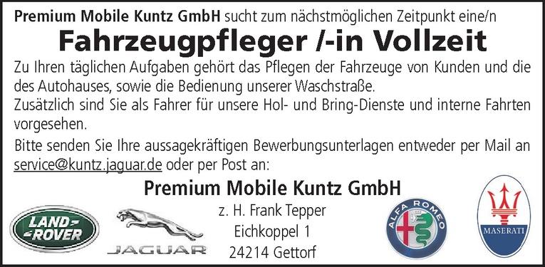 Fahrzeugpfleger /-in