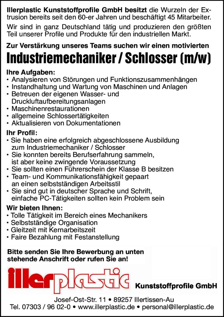 industriemechanikerschlosser mw - Bewerbung Als Schlosser