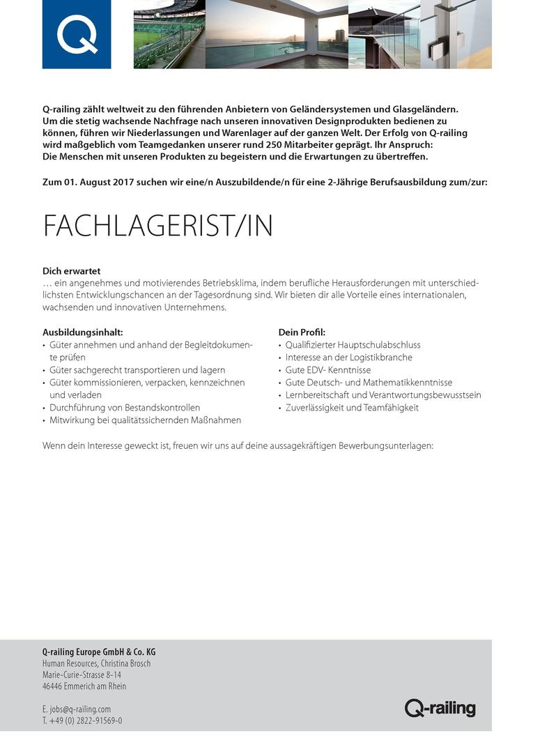 Fachlagerist/in