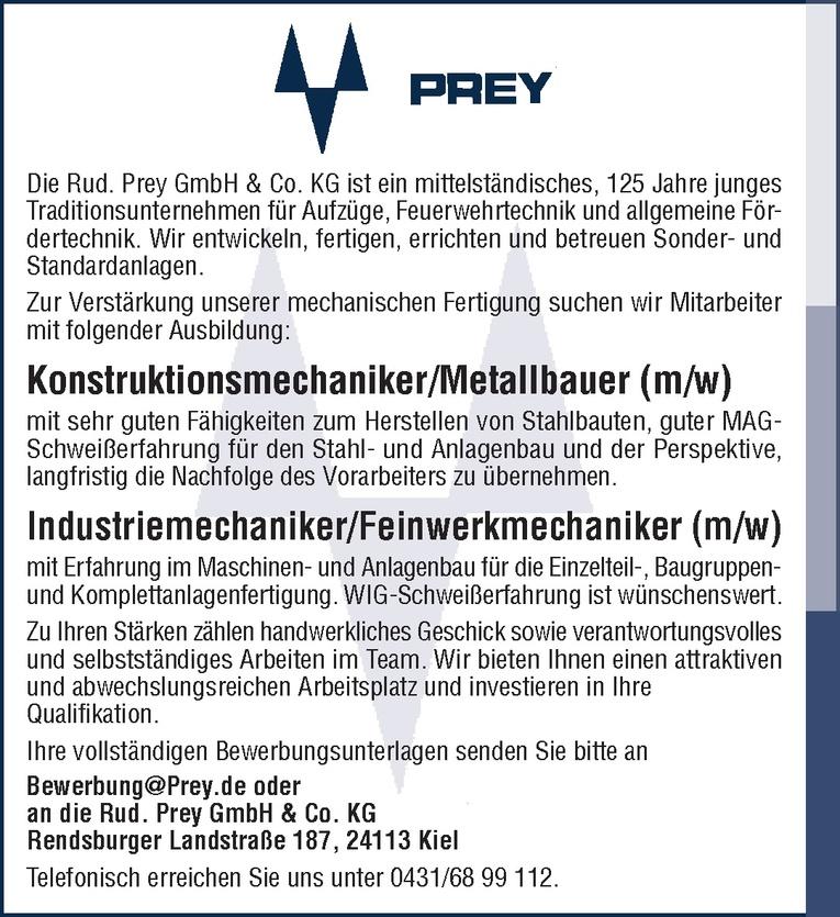 Industriemechaniker/Feinwerkmechaniker (m/w)