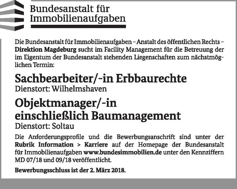 Objektmanager/-in Baumanagement
