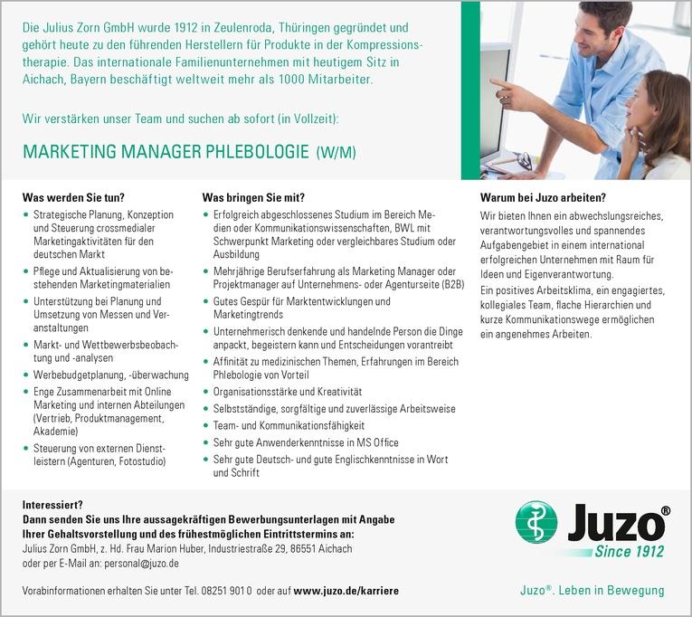 MARKETING MANAGER PHLEBOLOGIE (W/M)