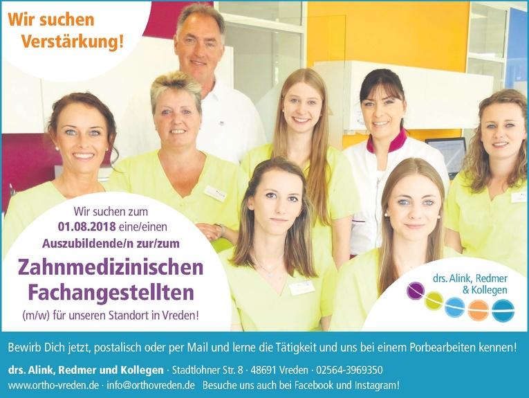 Auszubildende/n zur/zum Zahnmedizinischen Fachangestellten (m/w)