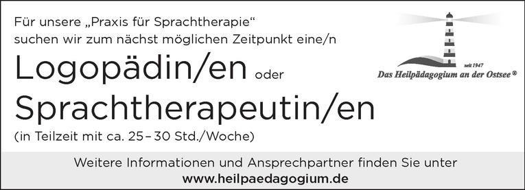 Logopädin/en oder Sprachtherapeutin/en