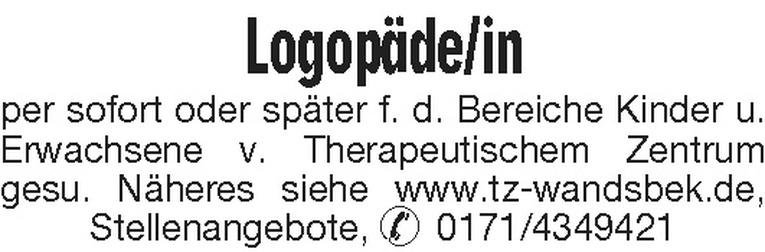 Logopäde/in