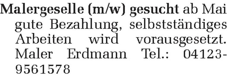 Malergeselle (m/w)