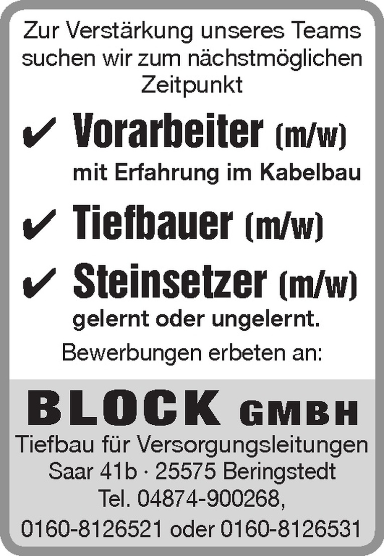 Steinsetzer (m/w)