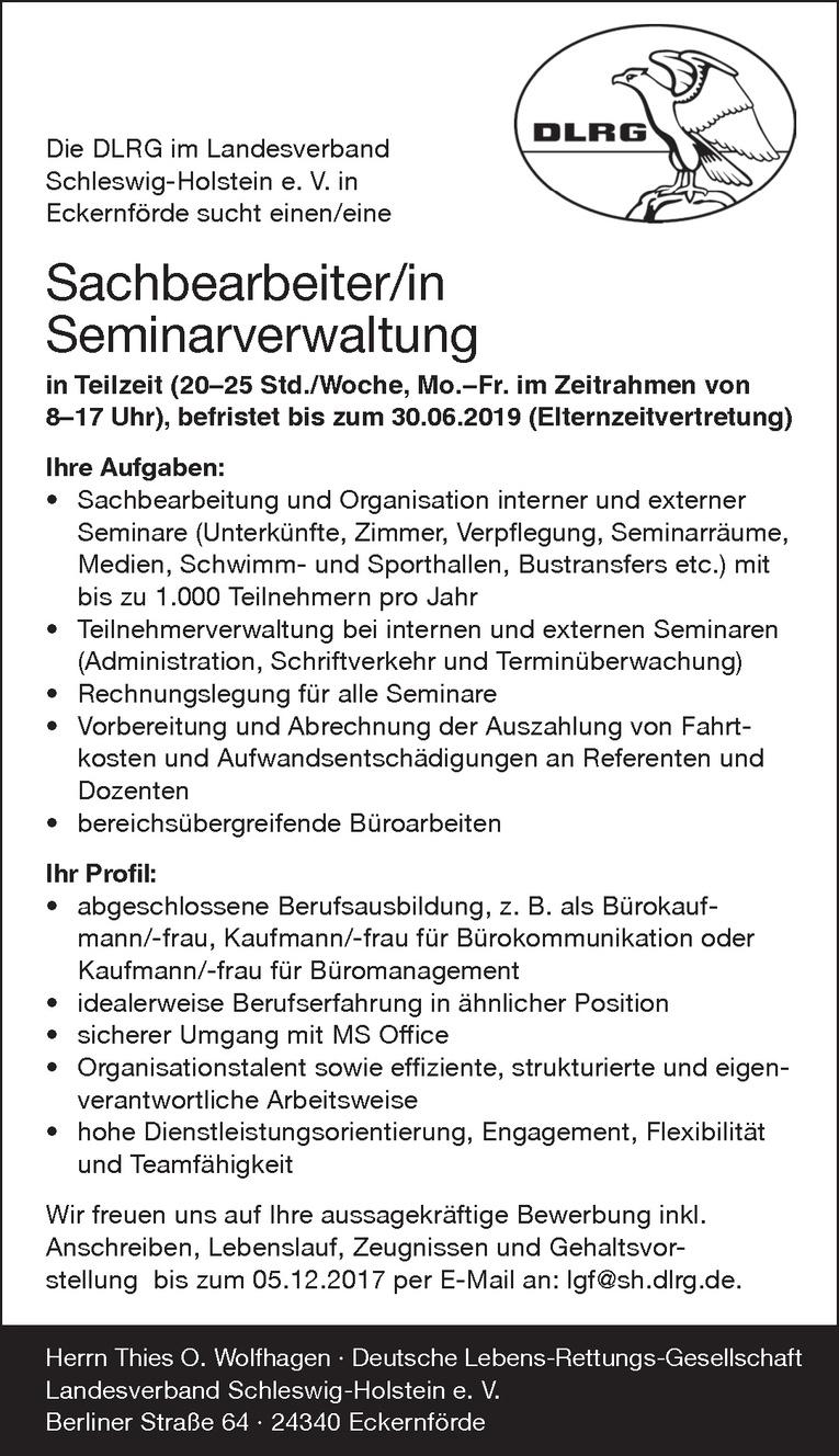 Sachbearbeiter/in Seminarverwaltung