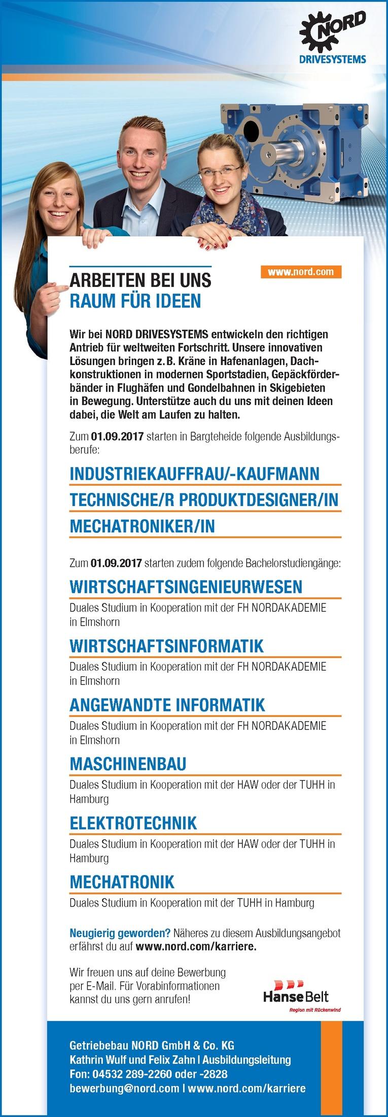 Ausbildungsplätze bei Getriebebau NORD GmbH & Co. KG
