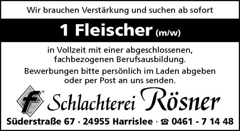 Fleischer (m/w)