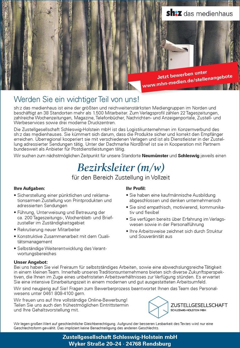 Bezirksleiter (m/w)