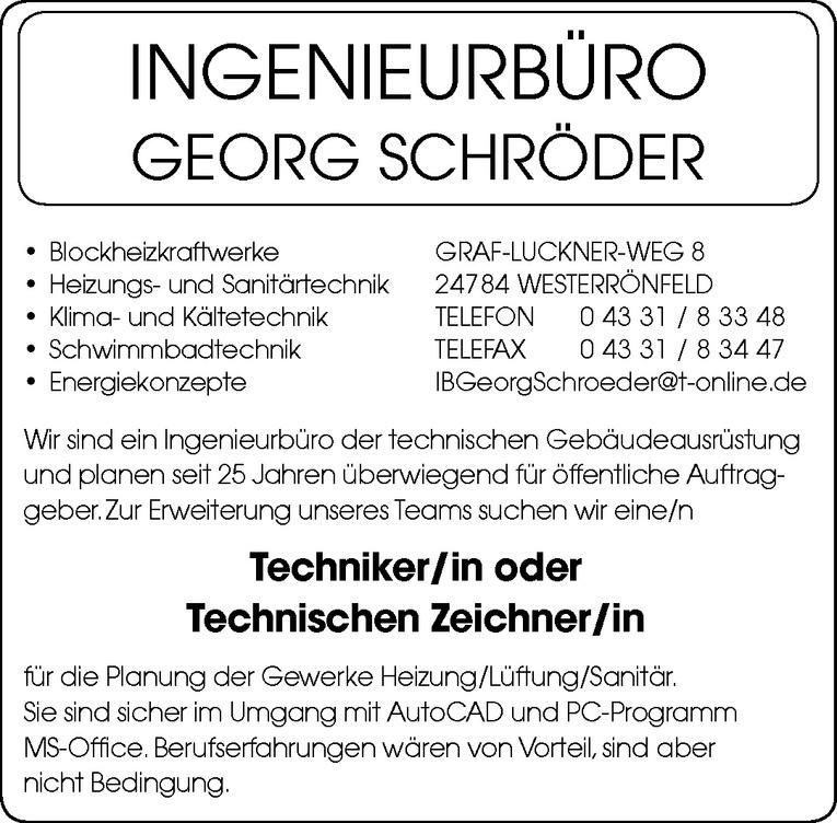 Techniker/in oder Technischen Zeichner/in