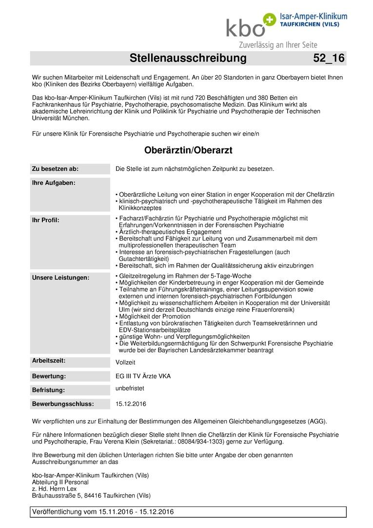 Oberärztin/Oberarzt