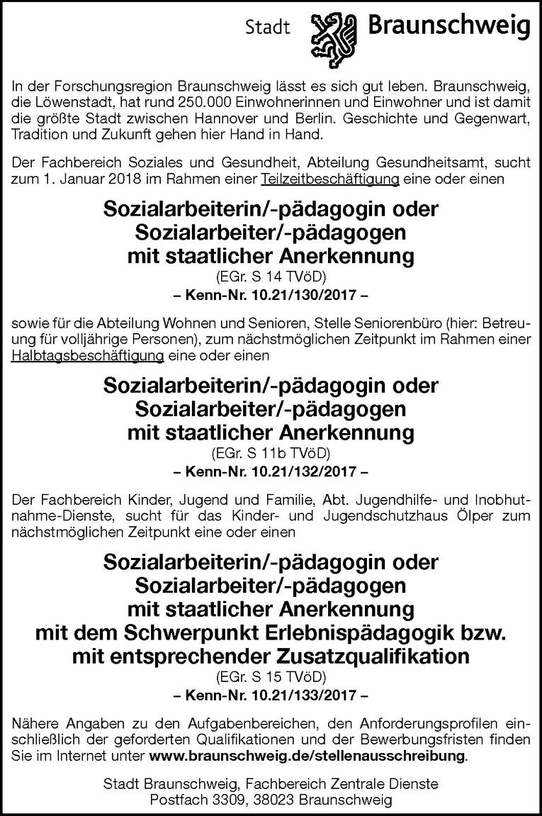 Sozialarbeiter/-pädagogen (m/w)