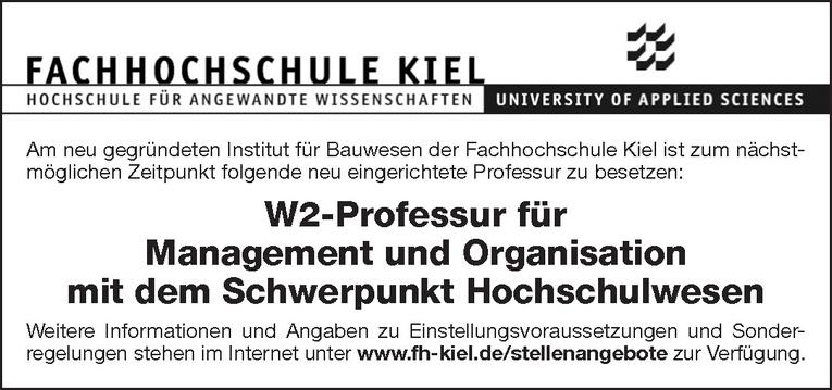 W2-Professur für Management und Organisation
