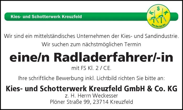 Radladerfahrer/-in