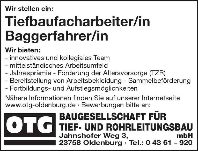Baggerfahrer/in
