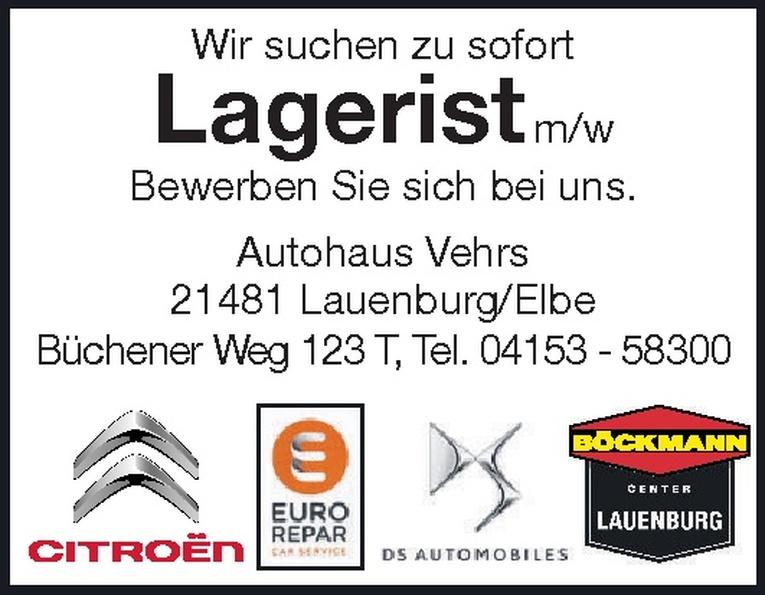 Lagerist m/w