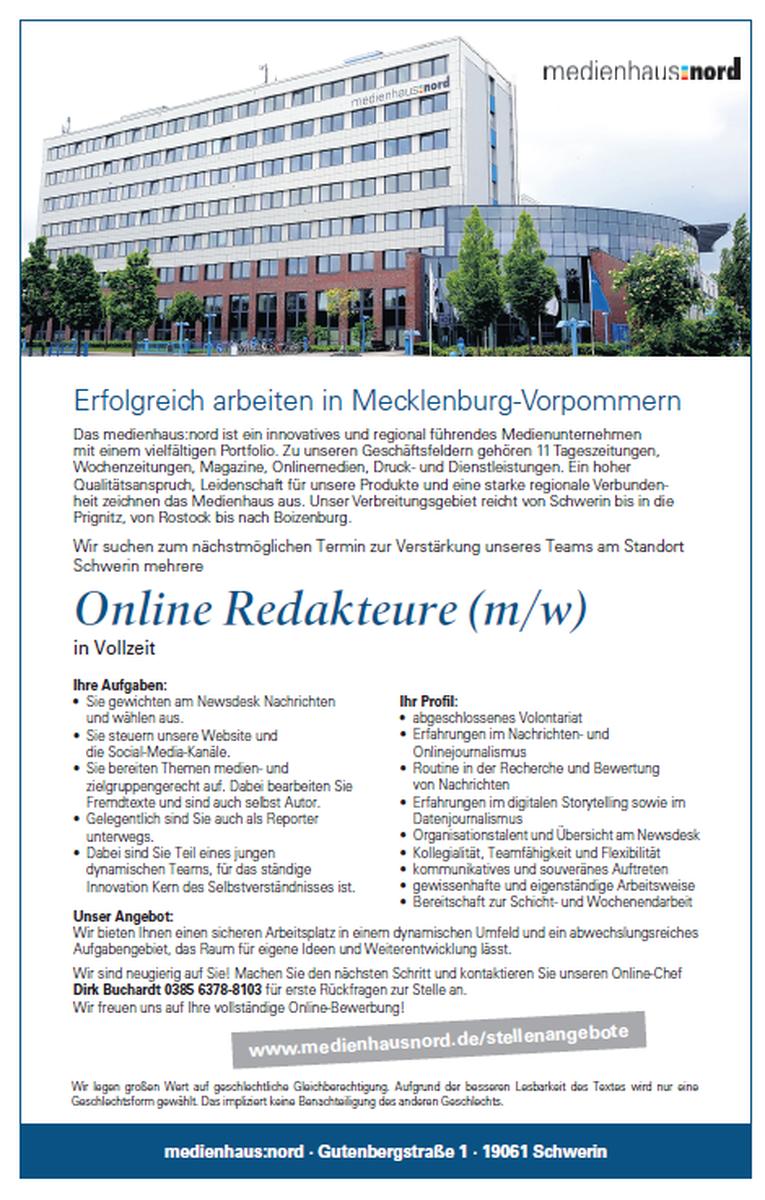 Online Redakteure (m/w)