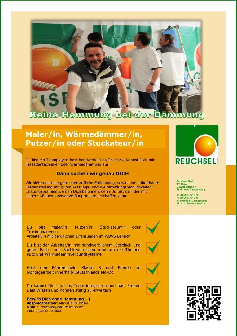 Facharbeiter (m/w) Maler/in, Wärmedämmer/in, Putzer/in oder Stuckateur/in